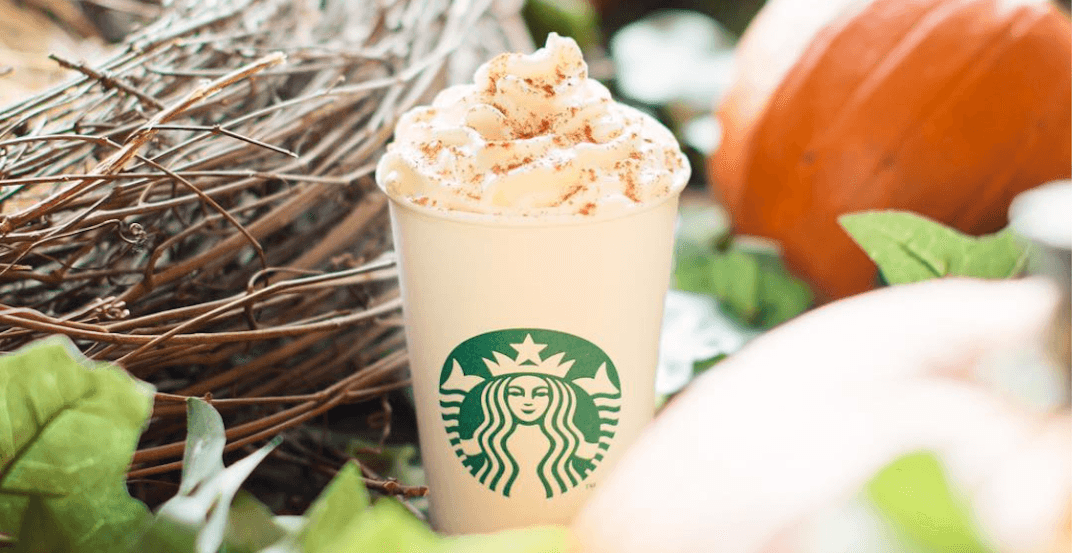 Pumpkin Spice Lattes launch at Starbucks across Canada today
