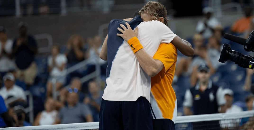 Shapovalov consoles close friend Auger-Aliassime at US Open (VIDEO)