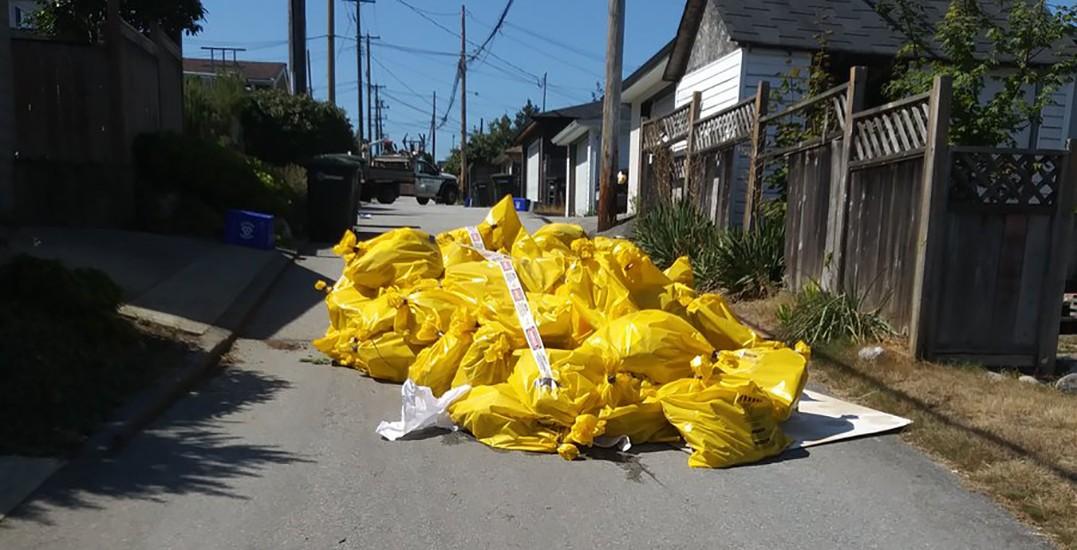 Pile of asbestos found abandoned in Burnaby residential alleyway