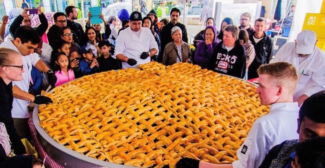 A giant 2,000-slice blueberry pie will be in Metro Vancouver next month