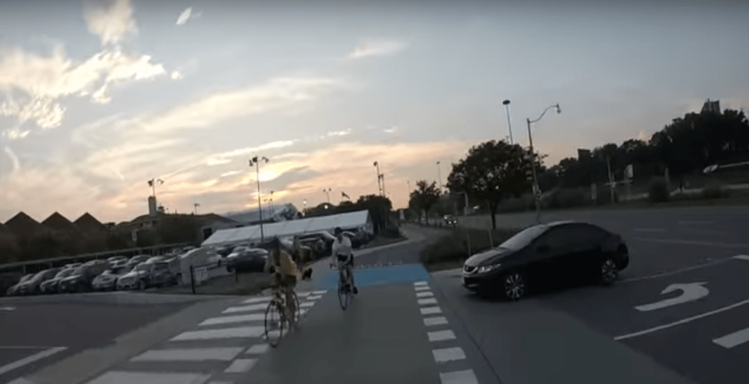 GoPro footage captures moment cyclist struck by driver in Toronto (VIDEO)