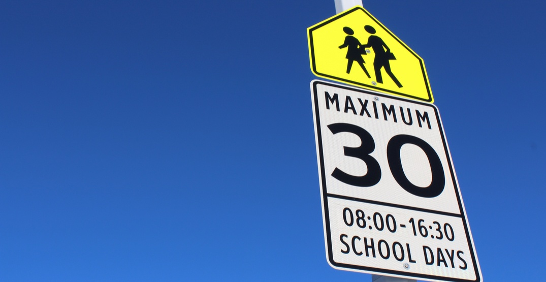Vancouver implements 24/7 reduced speed limits in school zones and playgrounds