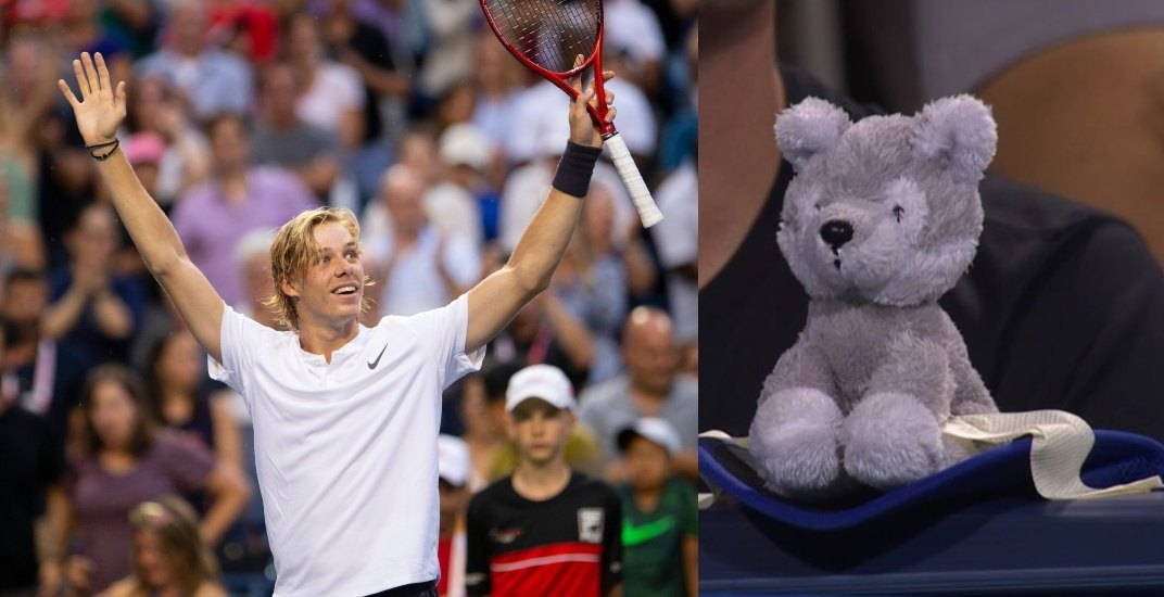 Here's why Denis Shapovalov brings a toy wolf to all his matches