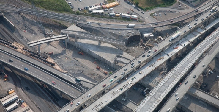 Yet another new configuration on the Turcot Interchange starts today
