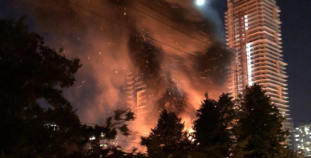 Burnaby crews battle 2-alarm house fire near Metrotown