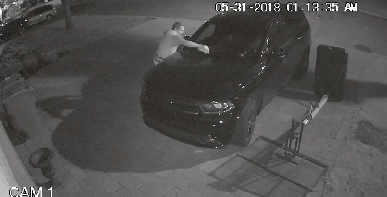 Montreal police looking for suspect who set West Island SUV on fire (VIDEO)