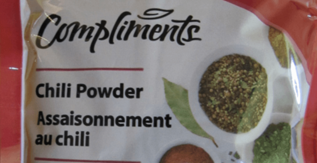 Chili powder recalled due to possible Salmonella contamination
