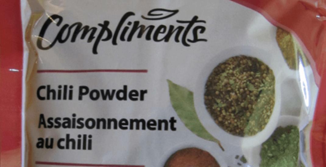 Chili powder recalled due to possible Salmonella contamination