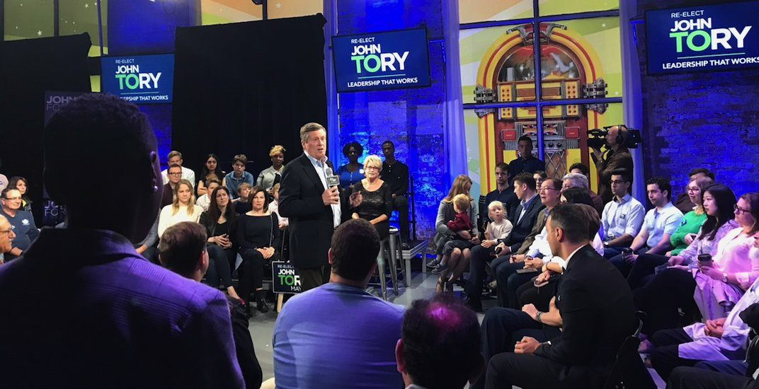 John Tory formally kicks off mayoral re-election campaign