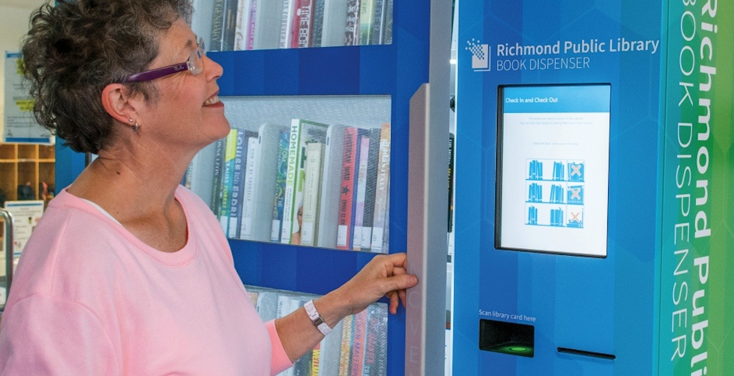 Richmond public library book dispensing machine