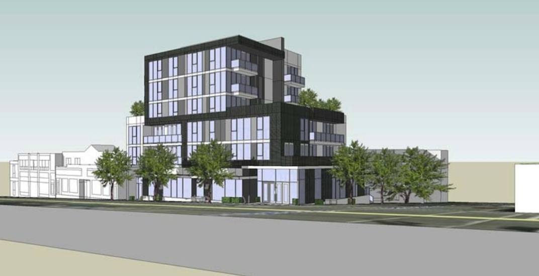 6-storey building proposed for East Broadway and Quebec Street