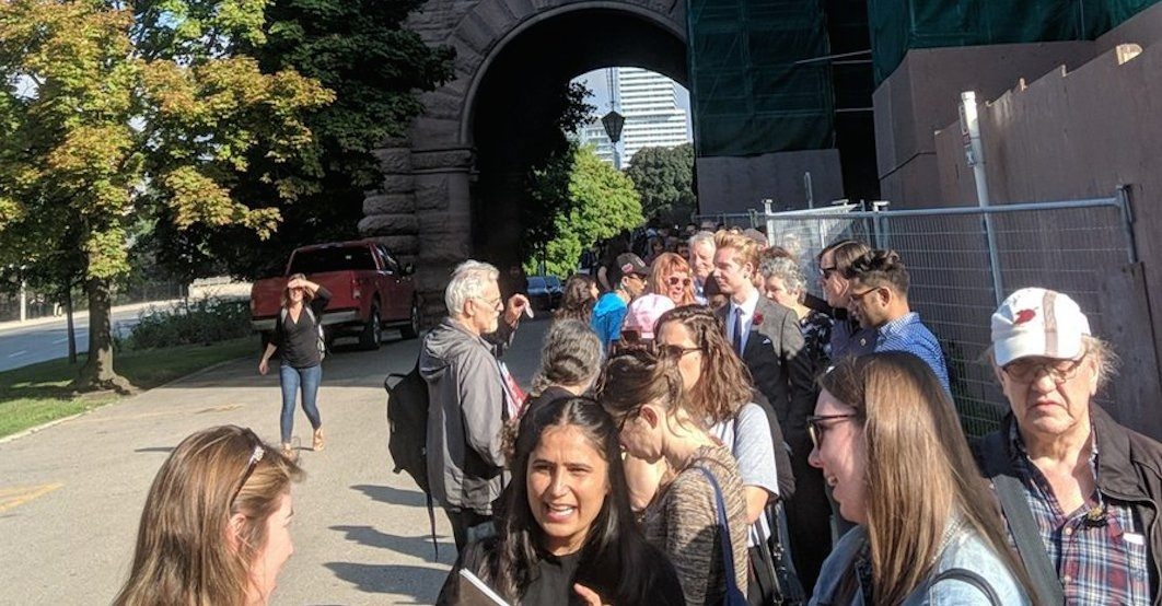 Hundreds line up at Queen's Park to protest Doug Ford's notwithstanding clause (PHOTOS)