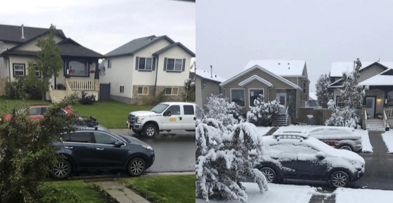 Parts of Alberta already experiencing a September snowfall (PHOTOS)