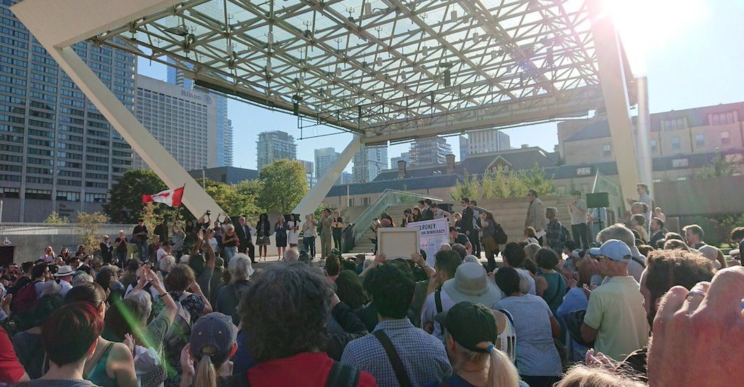 Doug Ford protest at City Hall draws huge turnout (PHOTOS)