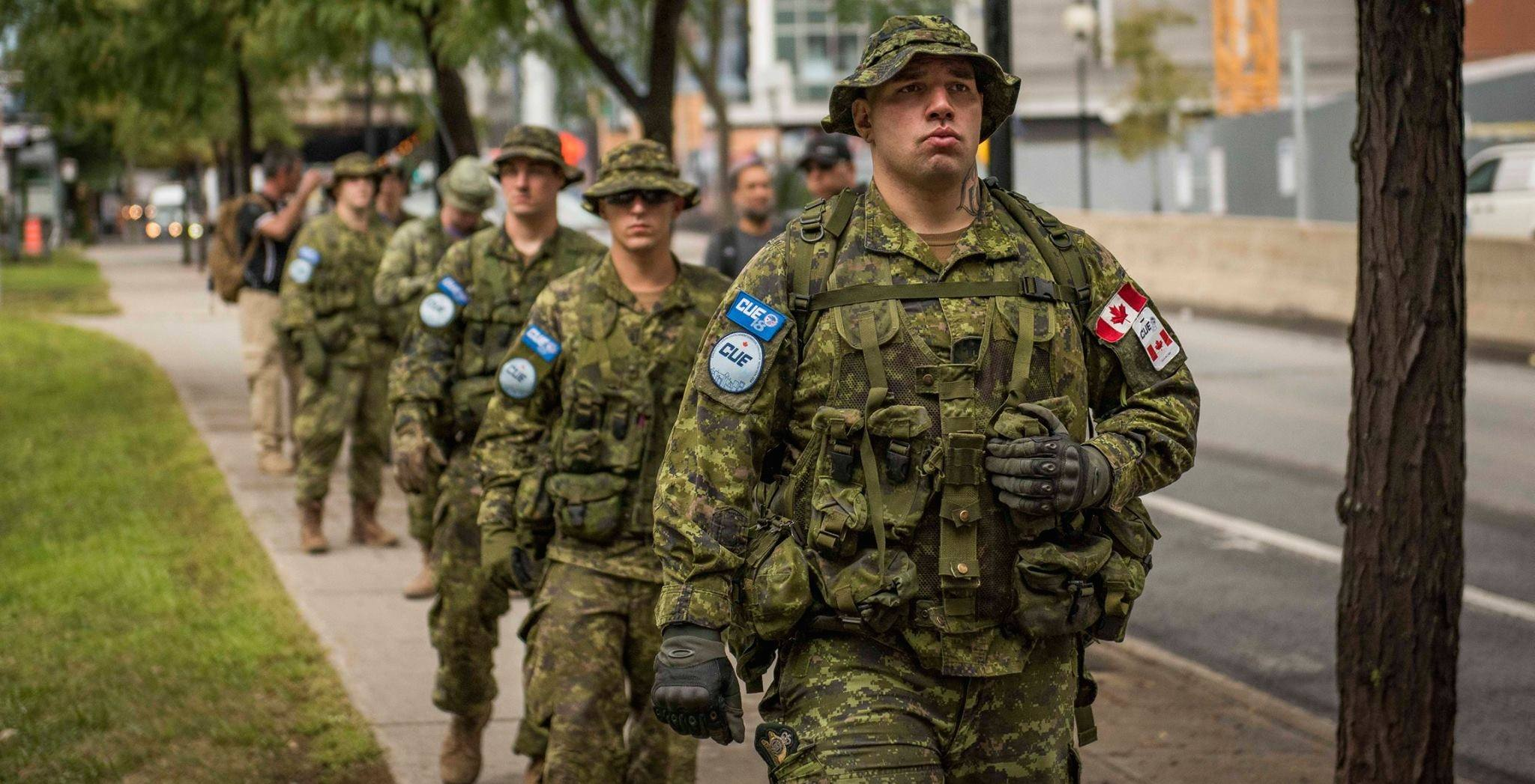 The Canadian military will be on the streets of Montreal next week testing new equipment