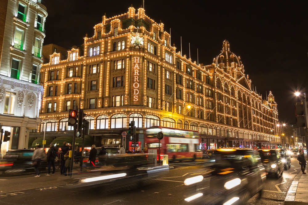 Harrod's London department store (mikecphoto / Shutterstock.com)