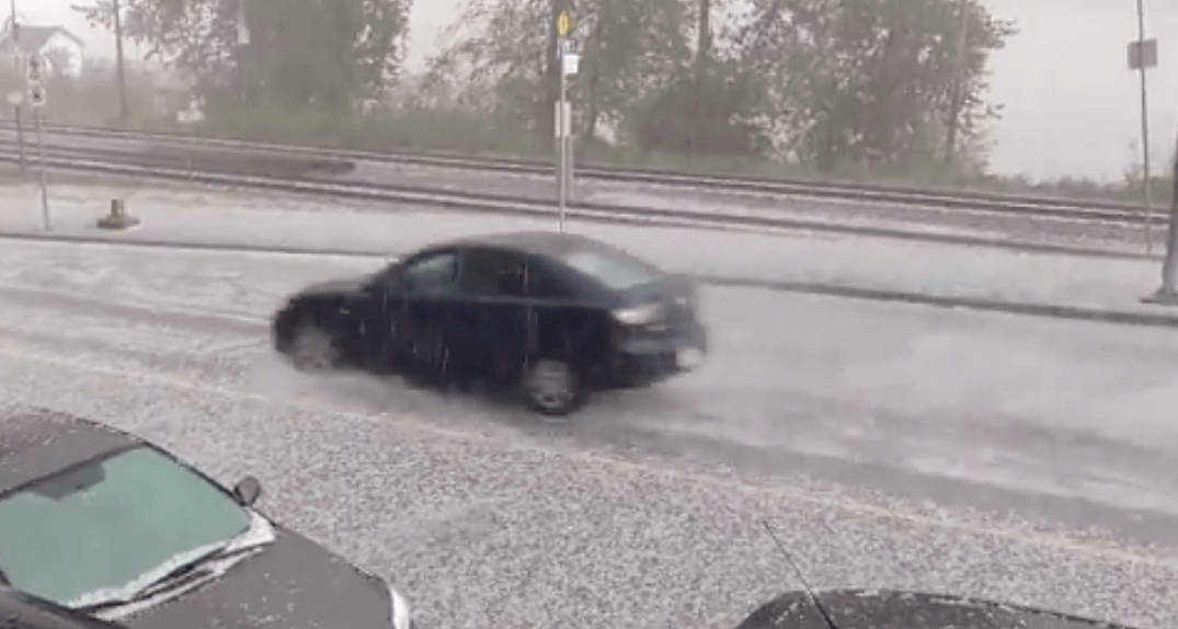 Severe hail in Maple Ridge turns streets white Friday afternoon (VIDEOS)