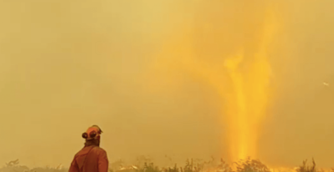 Watch these firefighters confront a fire 'tornado' in the BC Interior (VIDEO)