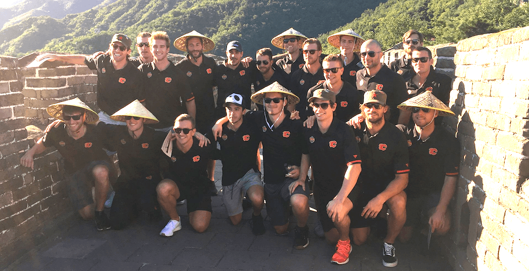 Calgary Flames players visit the Great Wall of China (PHOTOS)