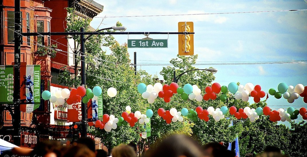 Crosswalks at 4 intersections on Commercial Drive to be painted with Italian flag