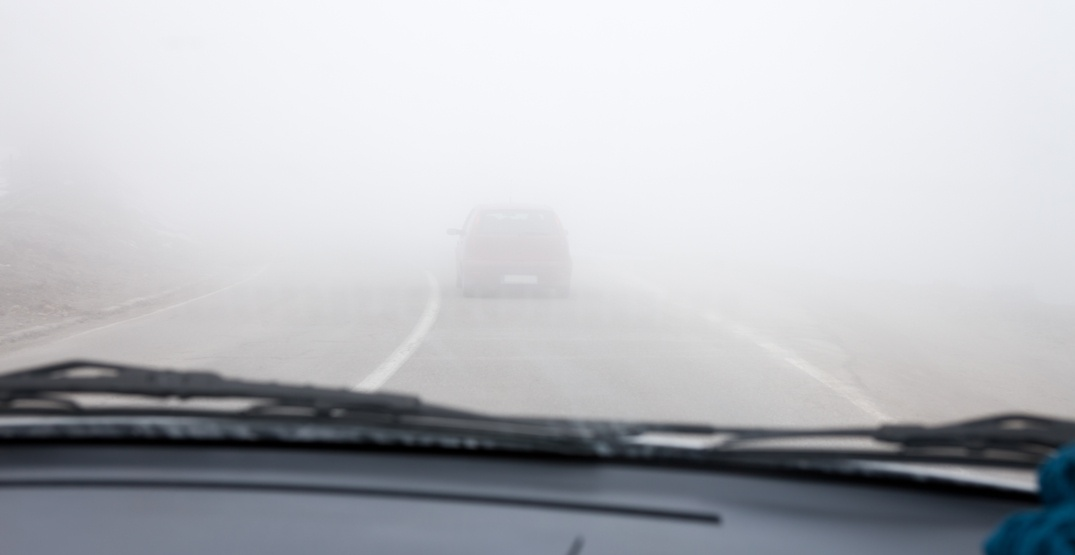 There's a dense fog advisory in effect for much of southern Alberta