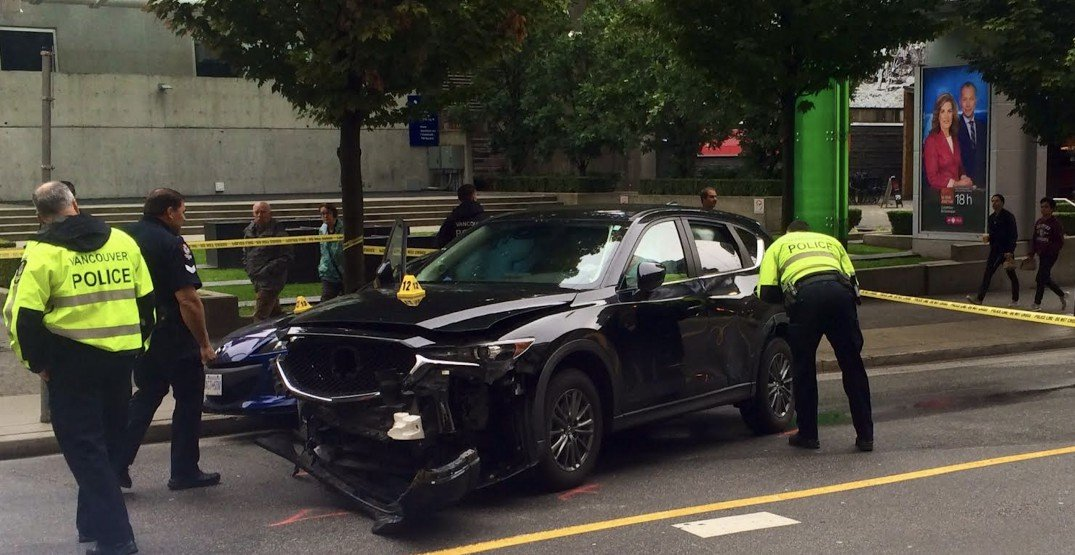 Rampaging carjacker pepper sprays multiple people in downtown Vancouver