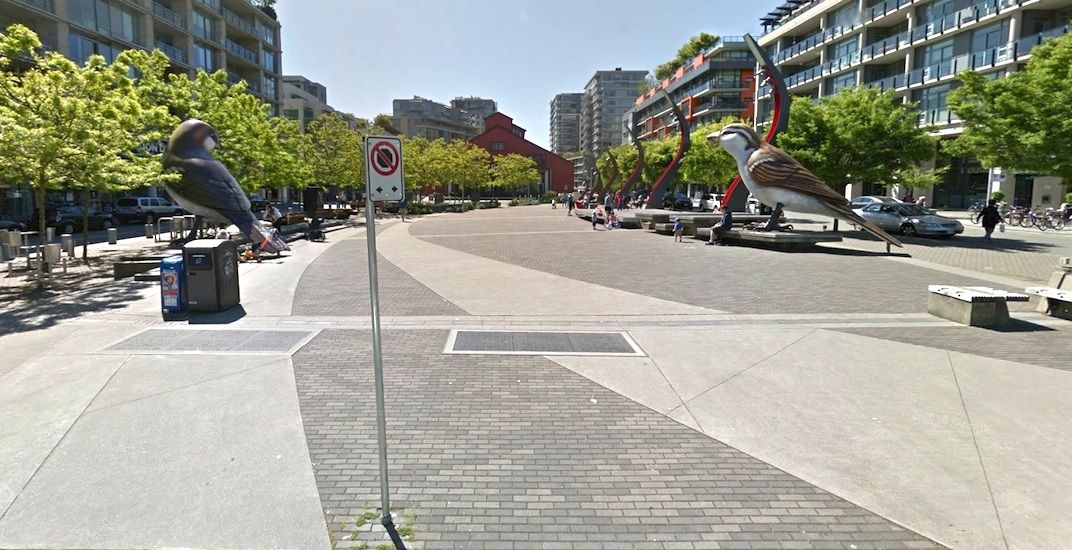 Milton wong plaza olympic village vancouver the birds