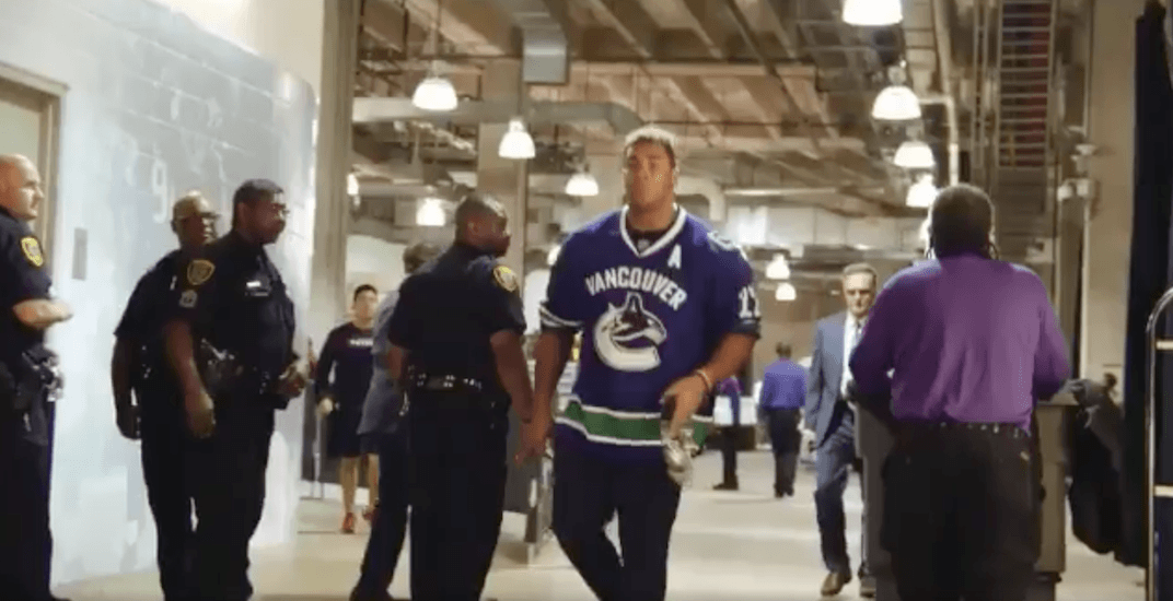 NFL player rolls up to game in a Daniel Sedin Canucks jersey ...