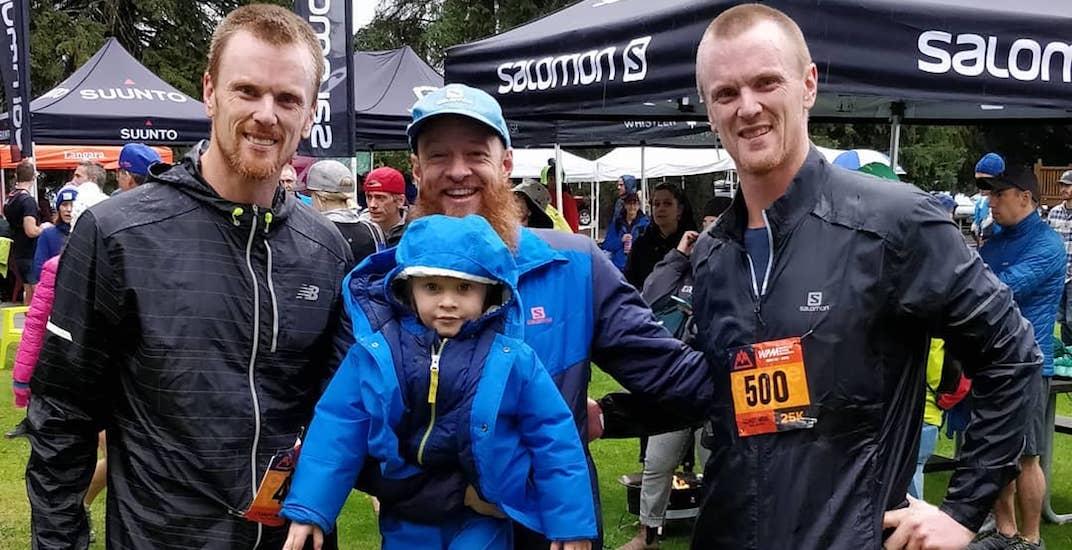 Sedins compete in 25 km alpine trail race in Whistler