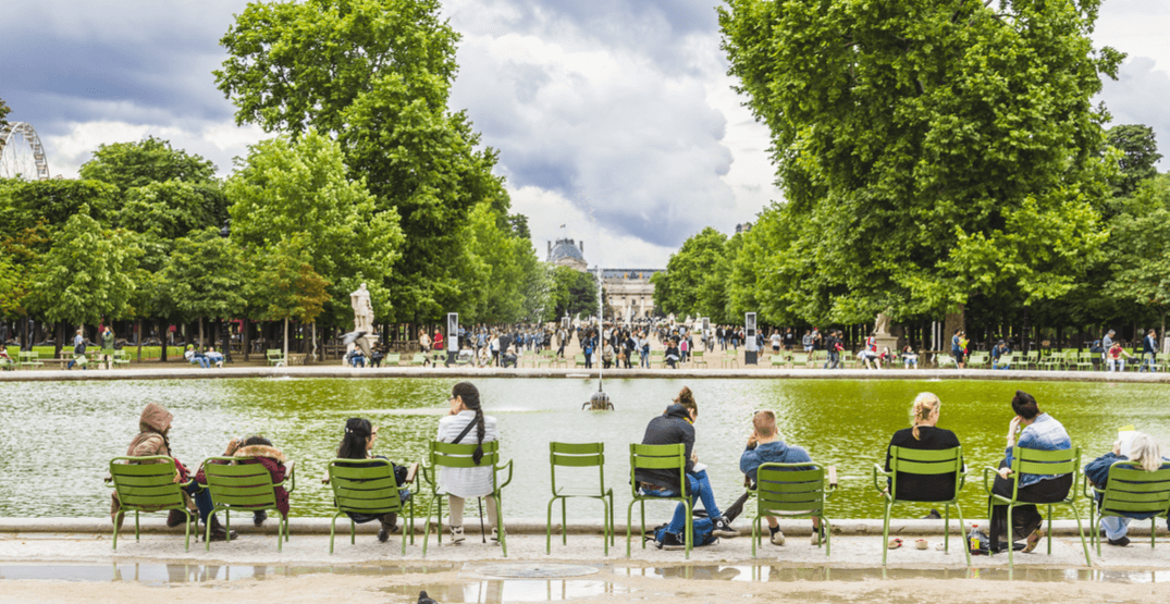 Green chairs at jardin des tuileries