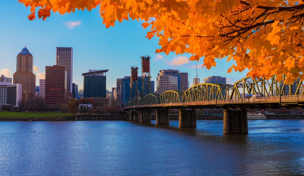 Bridge over the Willamette River / Shutterstock