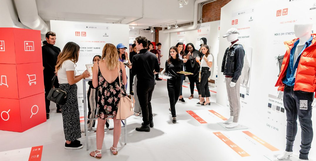UNIQLO is celebrating the launch of its app with a pop-up event in Vancouver