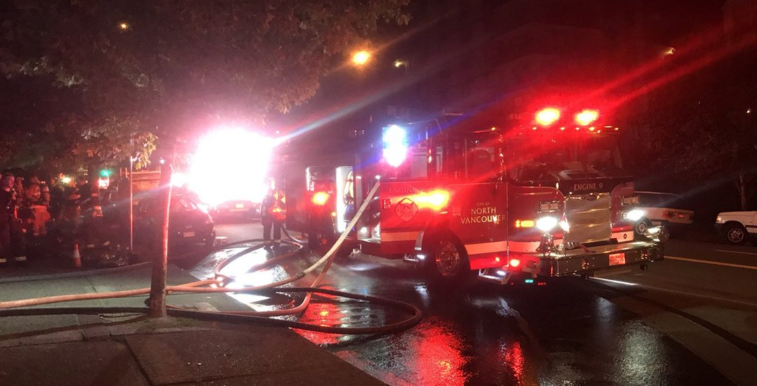 Crews battled early morning apartment fire in North Vancouver