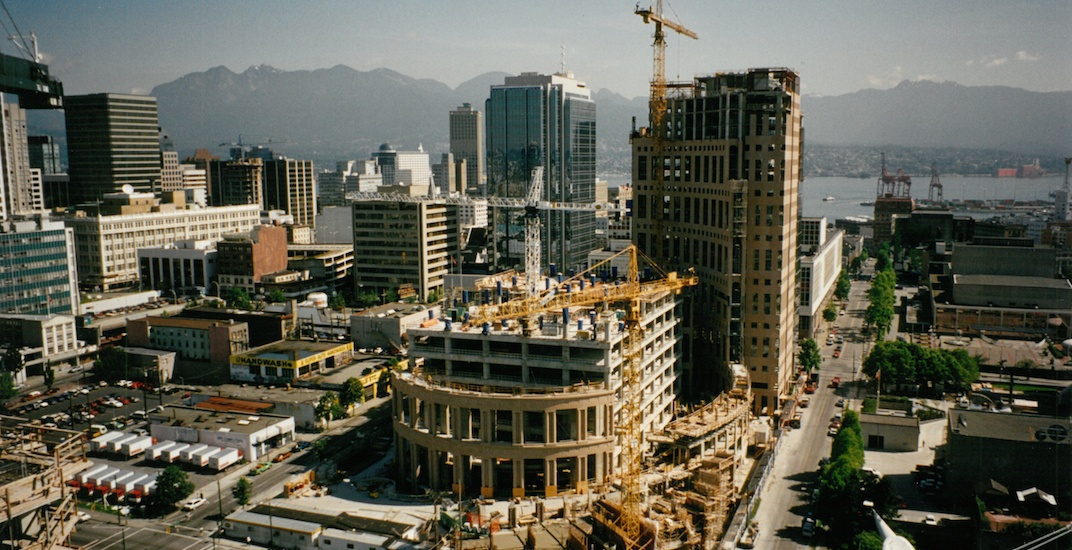 Vancouver in the 1990s: Library Square under construction (PHOTOS)