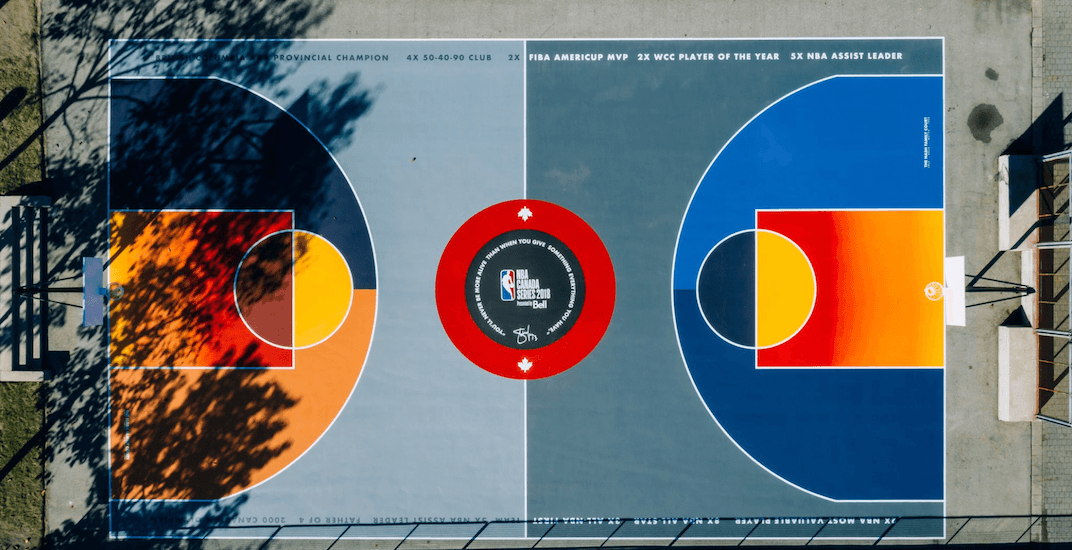 Colourful Steve Nash basketball court unveiled in Vancouver (PHOTOS)
