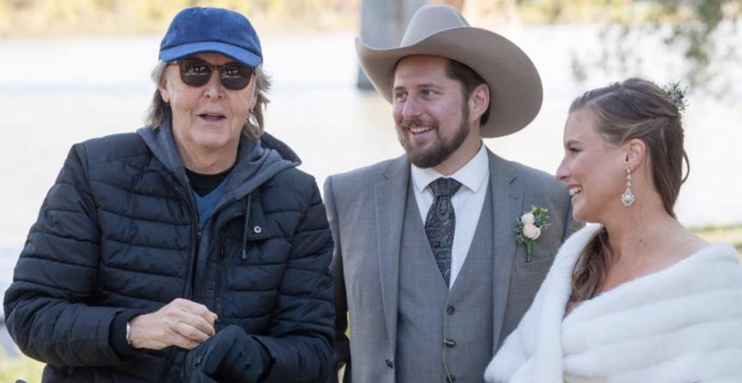 Paul McCartney Crashes Winnipeg Couple's Wedding Photos