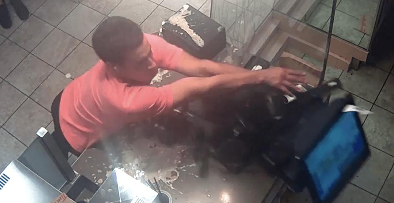 Customer destroys cash register after wrong order at Tim Hortons (VIDEO)