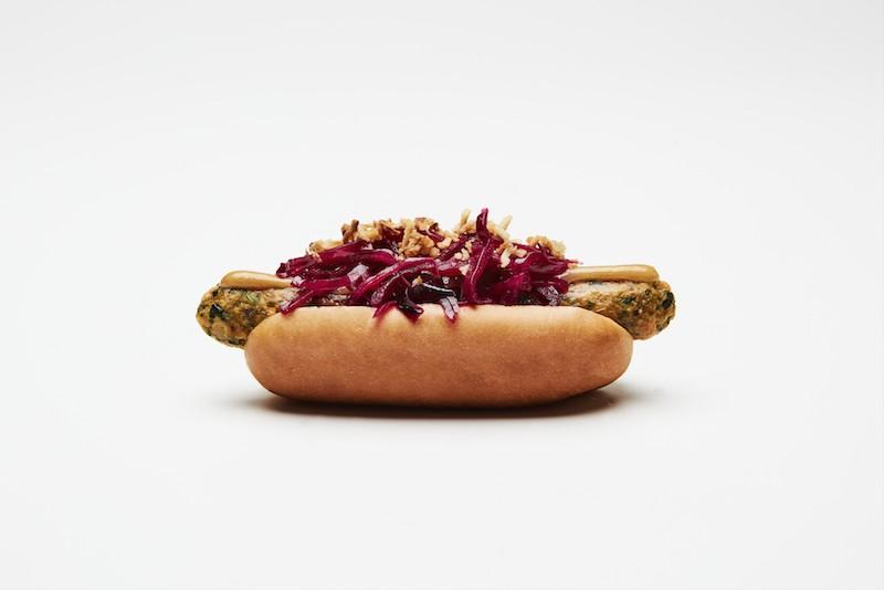 IKEA veggie hot dog