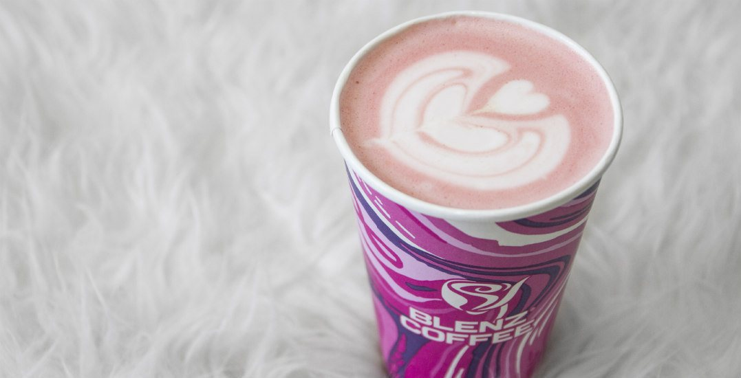 Blenz just launched a PINK latte to match their iconic pink cups