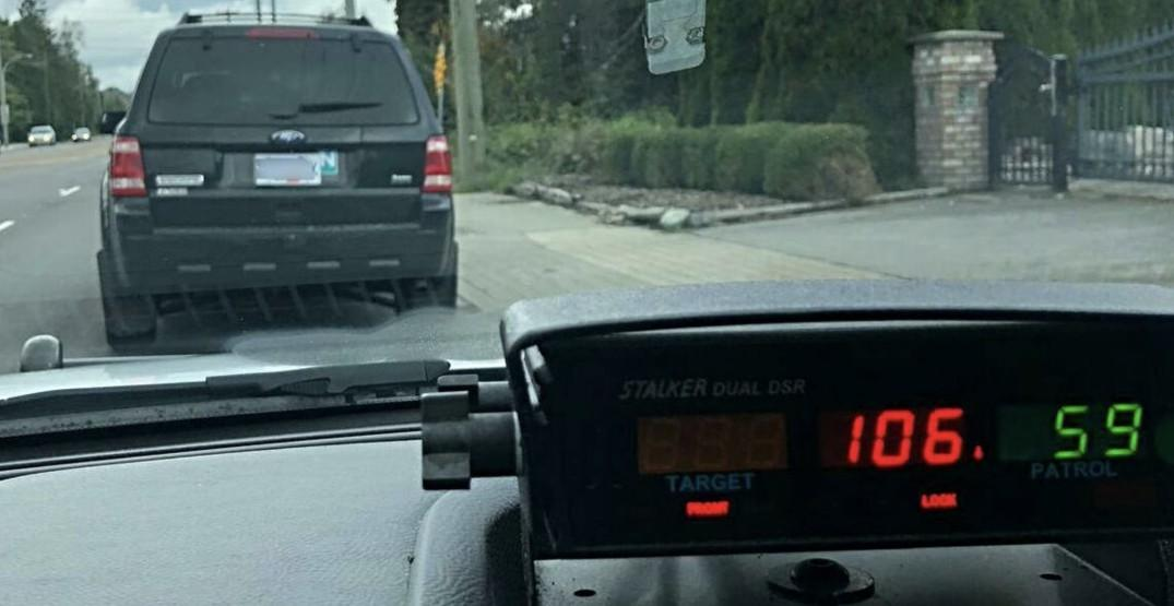 Richmond 'N' driver caught going over double the speed limit to get pizza
