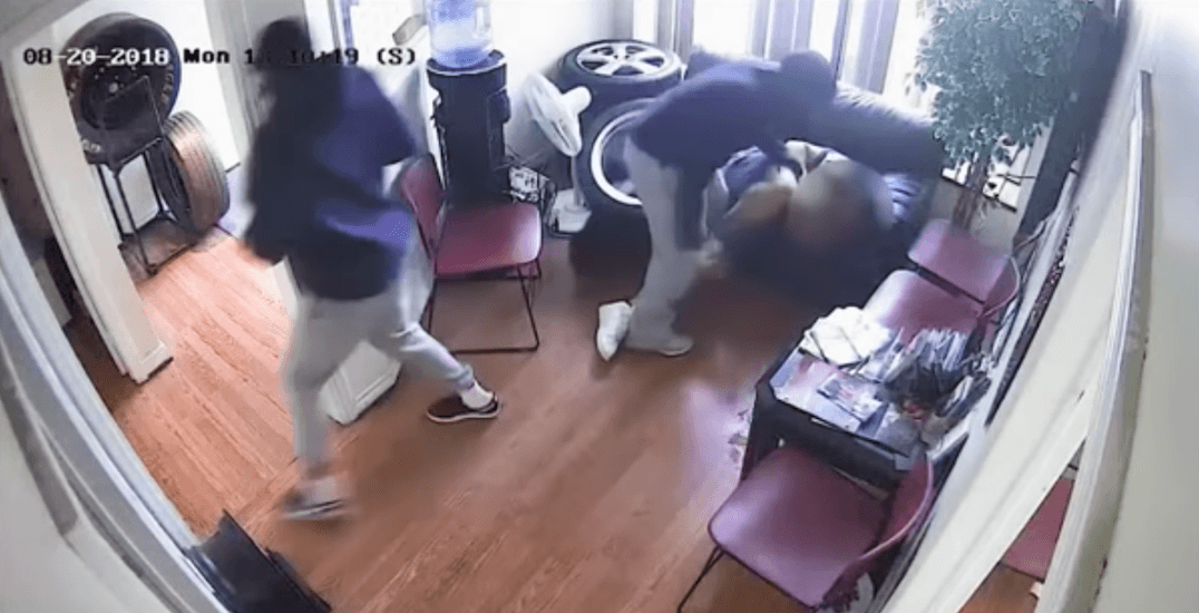 Police looking for suspects following violent assault at tire shop in Vaughan (VIDEO)