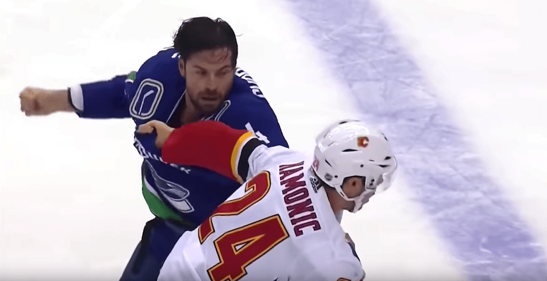 Flames' Hamonic suffered facial fracture in fight with Canucks' Gudbranson