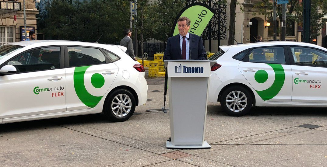 Toronto just got its first free-floating car-share service