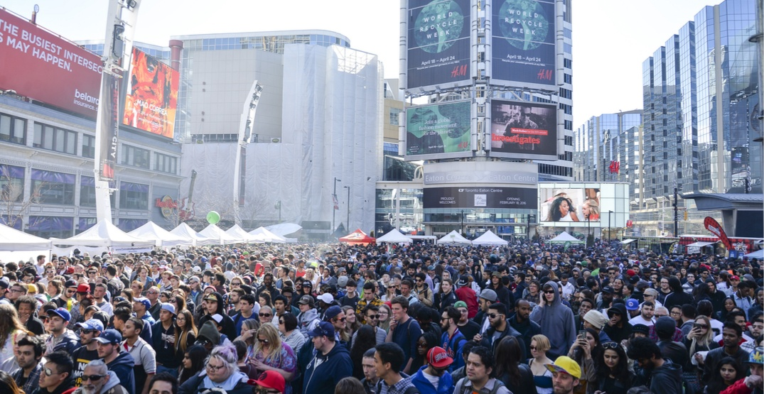 There's a 3-day cannabis celebration at Yonge-Dundas Square this week