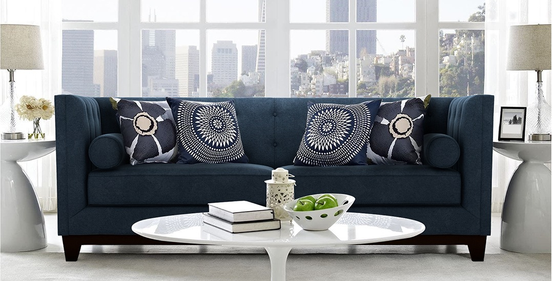 roscoe sofa in deep water blue