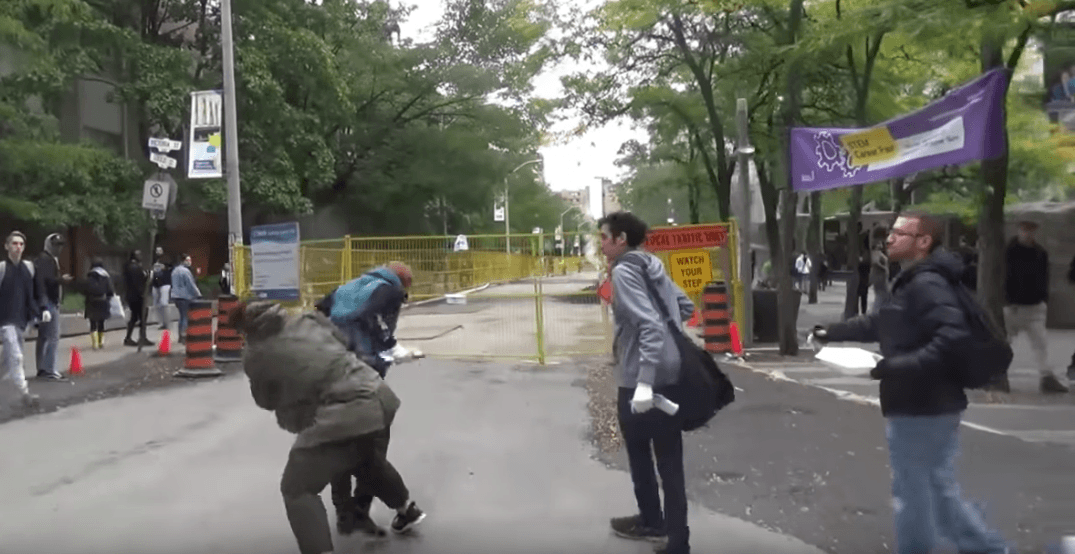 Anti-abortion protestor violently attacked at rally in Toronto (VIDEO)