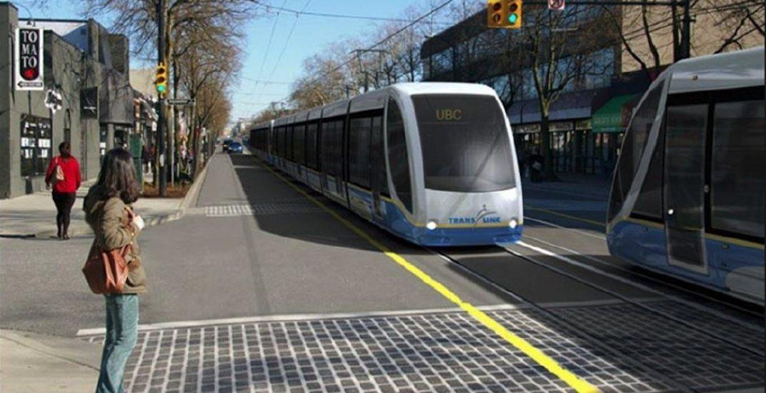 Vancouver broadway lrt streetcar1