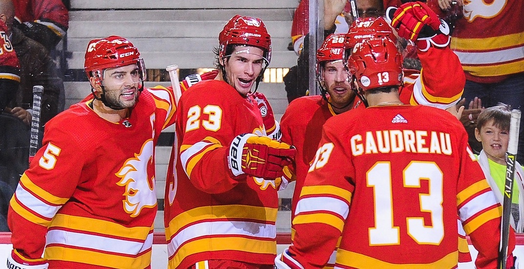 Calgary Flames to wear retro jerseys for all home playoff games ... 996a59b4a