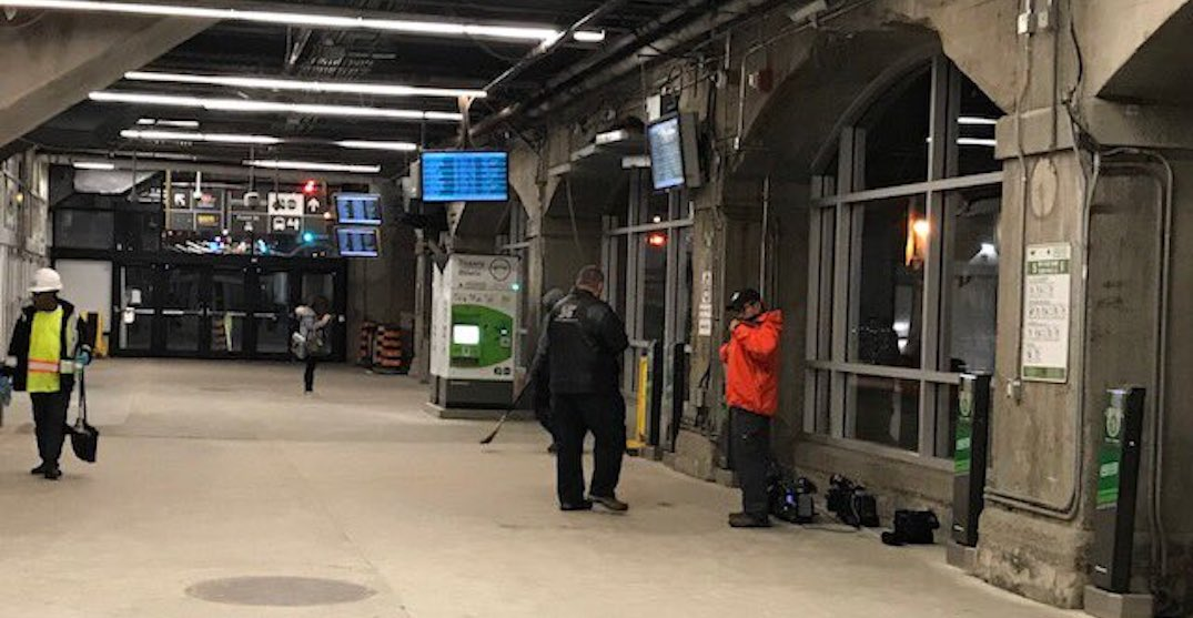 Woman struck and injured by falling cement at Union Station