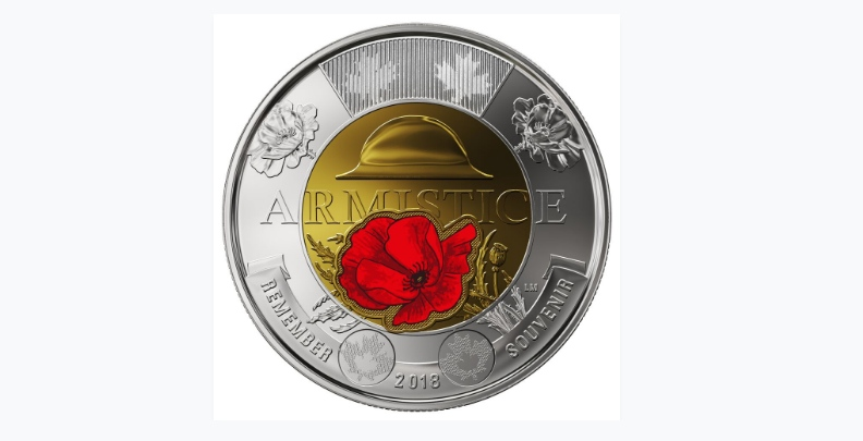New toonie released to celebrate the end of WW1